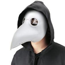 Plague Doctor Mask Bird Beak Steampunk Punk Gothic Halloween Cosplay Masks White