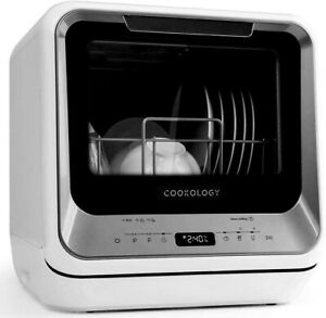 Cookology CMDW2SL Mini Portable Dishwasher Table Top with Baby Care & Fruit Wash