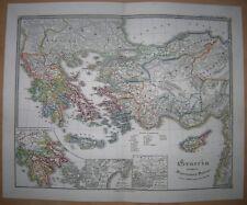 1850 Spruner historical map GRAECIA TEMPORE MIGRATIONIS DORICAE (#24)