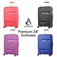 Aerolite Heavy-Duty Large Suitcase ABS Hard Shell Hold Luggage Bag 8 Wheel