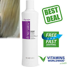 FANOLA NO YELLOW Shampoo For Grey Lightened Decolored Hair 350 Ml or 11.83 Oz