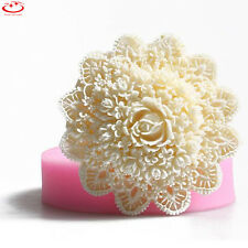 3D Lace Flower Silicone Fondant Mold Cake Decorating Sugarcraft Chocolate Mould