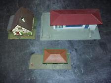 Lot 3 batiments HO maison FALLER 271 + HOFFMANN 520 + gare TALHAUSEN