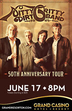 """NITTY GRITTY DIRT BAND """"50TH ANNIVERSARY TOUR"""" 2016 OKLAHOMA CITY CONCERT POSTER"""