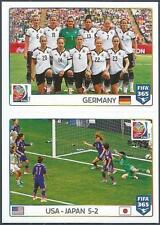 PANINI-2016 FIFA 365- #058-059-2015 WORLD CUP-GERMANY-USA 5 JAPAN 2