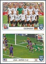 PANINI-2016 FIFA 365- #058-059-2015 WORLD CUP-GERMANY-USA 5 JAPAN 2