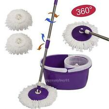 HOT 360° Rotating Easy Magic Microfiber Spin Spinning Super Replacement Mop Head