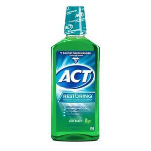 ACT Restoring Anticavity Fluoride Rinse, Mint Burst, 33.8 oz (3 Pack)