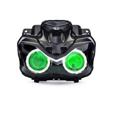 KT LED Angel Eye Custom HID Headlight Assembly for Kawasaki Z900 2017 2018 Green