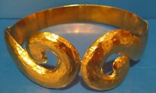 Yves Saint Laurent YSL Brushed Gold Metal Belt Vintage 1980s