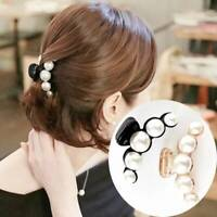 Chic Women Pearl Rhinestone Headdress Hairpin Clip Hair Claw Accessories Gifts