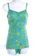 Vtg 60s Jantzen Mod Flower Power Floral 1pc Swimsuit Skirted Bathing Suit Pin Up