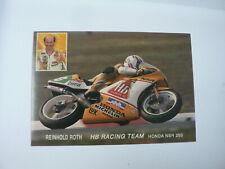 INFO FAN CARD REINHOLD ROTH  WEGRACE ROADRACE HB RACING TEAM HONDA NSR 250