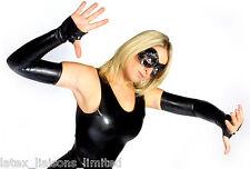 **SPECIAL OFFER**Black Latex Rubber FINGERLESS Shoulder Gloves Med/Large 2nd BIN