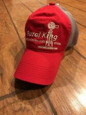 RURAL KING America's Farm and Home Store Adjustable Hat Farming New Red Trucker