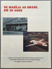 TAM BRAZIL 30 YEARS HISTORY BROCHURE F100