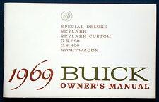 Owner's Manual * Betriebsanleitung 1969 Buick Special Skylark GS Sportwagon USA