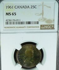 1961 CANADA 25 CENTS NGC MS65
