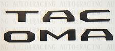 2016-2019 Toyota Tacoma Raised Flat Black Tailgate Emblems Insert Genuine OEM