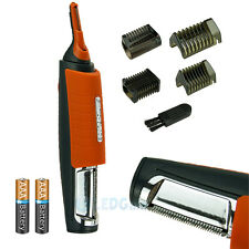 Pro 2 in 1 Hair Trimmer MicroTouch Switchblade Shaver Grooming Tool Kit &Battery
