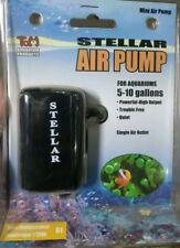 Stellar Mini Aquarium Air Pump 5-10 Gallon Quiet, High Output, Trouble Free New