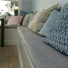 Window Seat Cushions. Made to measure with piping. Size up to 150cm x 45cm.