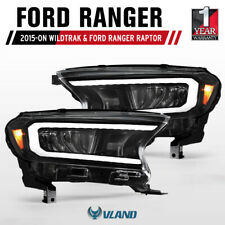 VLAND LED Headlights Sequential Indicator for Ford Ranger 2015-ON Wildtrak