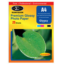 SUMVISION GLOSS COATED A4 INKJET PRINTER PHOTO PAPER 180GSM 25 SHEETS 5760DPI