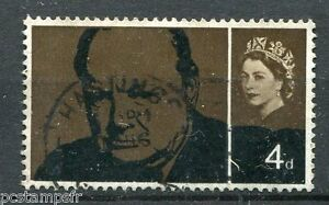 Great Britain, GB, 1965, Stamp 397, W.Churchill, Obliterated, VF Stamp