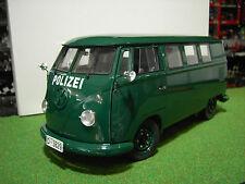 VOLKSWAGEN FOURGON POLICE ALLEMANDE vert 1/12 voiture miniature SUN STAR 5082