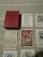c1900  Scarce ANTIQUE  PLAYING CARDS Game  of AUTHORS  Gibson VGC Boxed