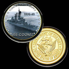U.S. United States Navy | USS Coontz DDG-40 | Gold Plated Challenge Coin