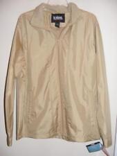 New TOTES tan lined raincoat water resistant zippered JACKET Medium M 5 pockets