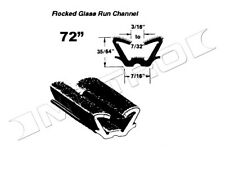 """Universal Flocked Glass Run Channel. 72"""" Piece, Each. Fast Shipping, Usa made"""