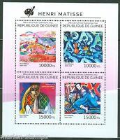 GUINEA 2014 HENRI MATISSE PAINTINGS SHEET MINT NH