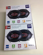 "Dual DLS574 6"" Car Speakers 160 Watts (Four Speakers)"