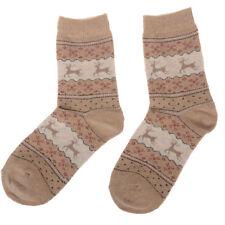 Roiii 1 Pair Women Ladies Thick Winter Socks Warm Wool Blend Christmas Socks