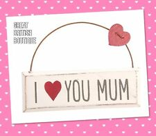"Perfect Gift for Mum - Wall Sign/Plaque- ""I Love You Mum"""