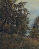 A Corner Of The Woods Alfred Sisley Wall Art Painting Print on CANVAS Small 8x10