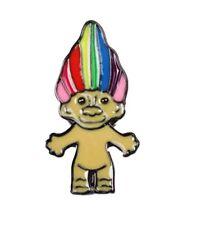 Rainbow Troll Metal Enamel Pin