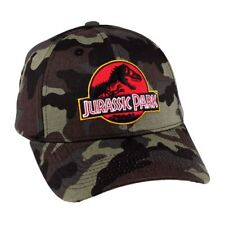 OFFICIAL JURASSIC PARK LOGO - CAMOUFLAGE STRAPBACK CAP (NEW)