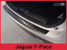 2017-19 Jaguar F-Pace Graphite Black Stainless Steel Rear Bumper Protector Guard