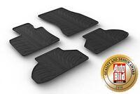 Design Passform Gummimatten Gummi Fußmatten mit Rand für BMW X6 F16 ab 12.2014>