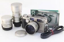 (Excellent++) CONTAX G2 body w/Planar 45mm F2+Biogon 28mm F2.8 Sonnar 90mm F2.8
