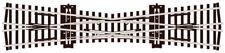 More details for peco single slip 12 degree angle oo gauge model railway sl-80