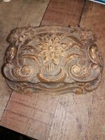 Vintage Floral Box for Trinkets Rosary or jewelry uncleaned barn find