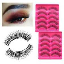 5 Paar Synthetic FibersThick Long Black False Fake Eyelash Eye Makeup,PRO