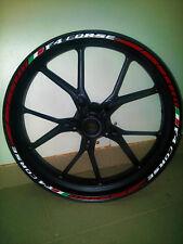 Adesivi per cerchi moto MV agusta f4 corse strisce cerchi