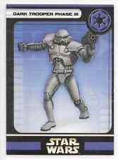 2005 Star Wars Miniatures Dark Trooper Phase III Stat Card Only Swm Mini