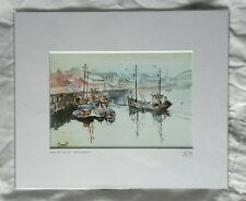 Terry Donnelly, North East Trawlers, mounted open edition print, signed